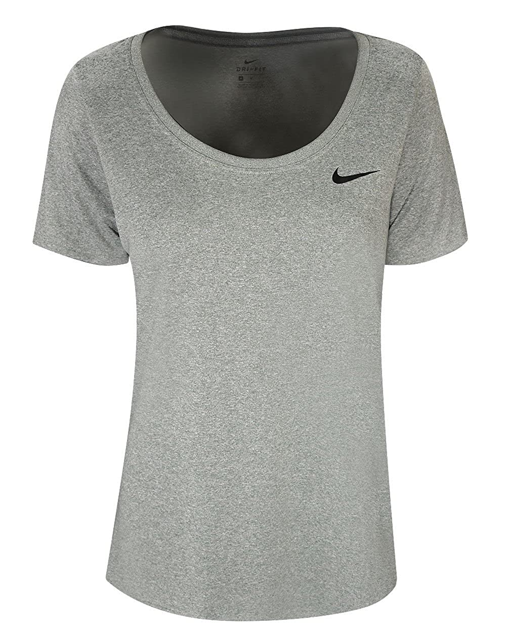 2286529e16c Made in USA or Imported Nike Dry fabric helps keep you dry and comfortable.  Scoop-neck design for a nonrestrictive fit and feminine silhouette.