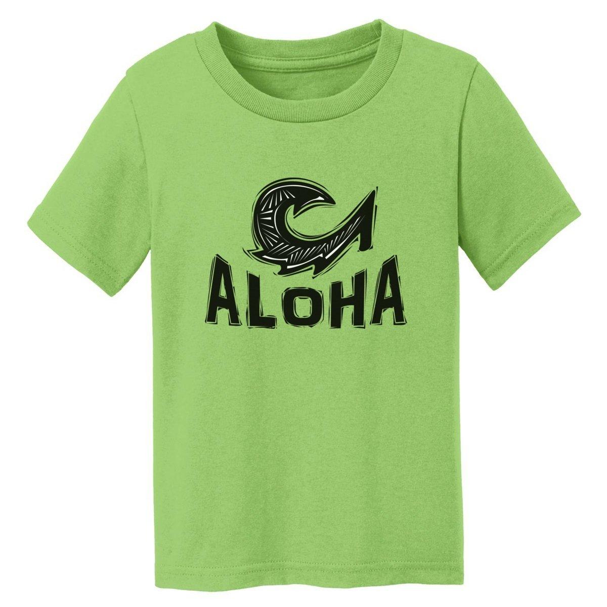 Digital T-Shirt Shop Baby-boys Aloha Maui Fish Hook T-Shirt 2T LIME GREEN by Digital T-Shirt Shop (Image #1)