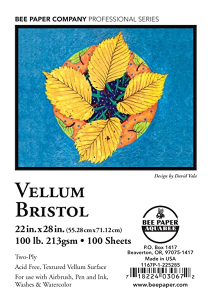 22-1//2-Inch by 28-1//2-Inch Bee Paper Vellum Bristol Pack 100 Sheets per Pack