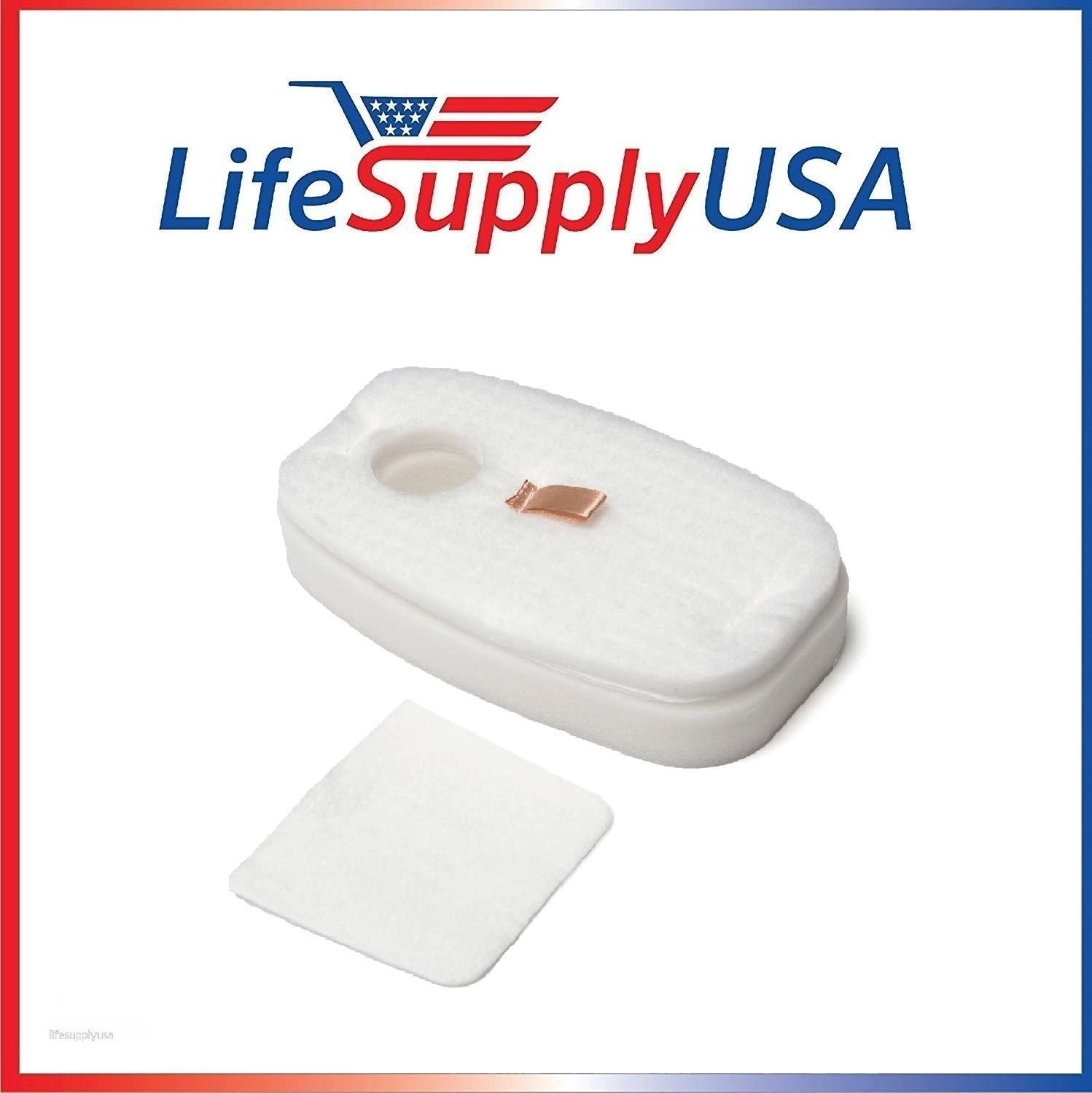 LifeSupplyUSA Foam and Felt Filter kits (50) Compatible with Shark Rocket Deluxe Pro, TruePet, HV320 & HV319Q Model Vacuum Cleaners part #s 1080FTV320 & 1084FTV320 (50 Sets) 71A2cE1OnqLSL1500_