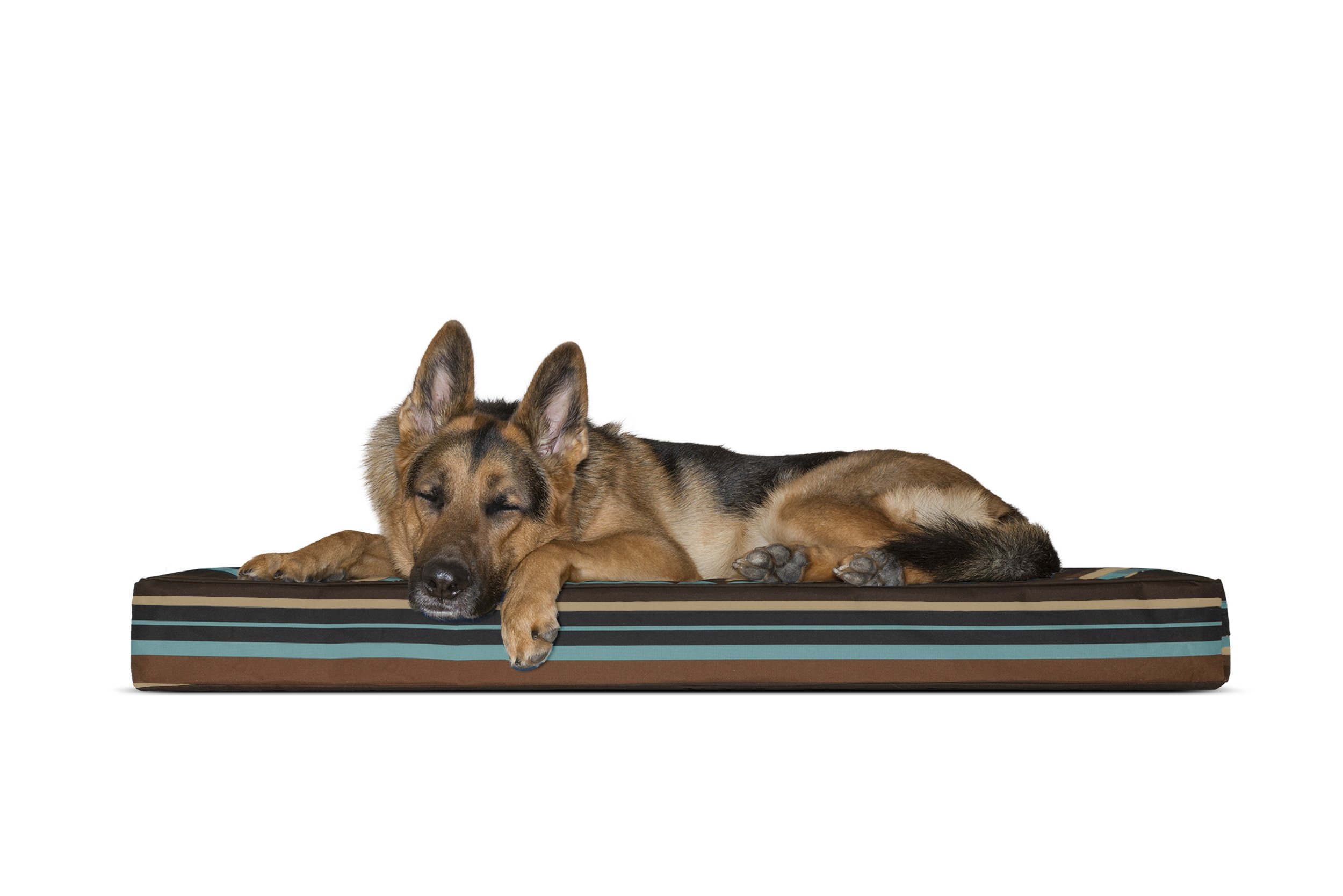FurHaven Deluxe Memory Foam Indoor/Outdoor Pet Bed for Dogs and Cats, Espresso Print, Large