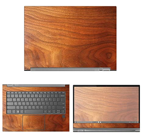 decalrus - Protective Decal Wood Skin Sticker for Lenovo Yoga C930 (13.9