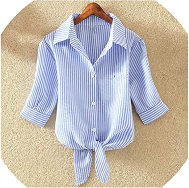 Blusa de algodón para Mujer, Camisa Blanca Suelta de Manga Corta y Blusas Casuales - Multi - XX-Large: Amazon.es: Ropa y accesorios