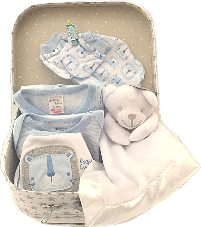 Cesta para bebé recién nacido y caja de recuerdo, incluye juego de edredón de felpa y elementos esenciales para bebé: Amazon.es: Bebé