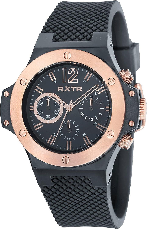 LTD WATCH Unisex-Armbanduhr RXTR Chronograph Silikon schwarz LTD-310203