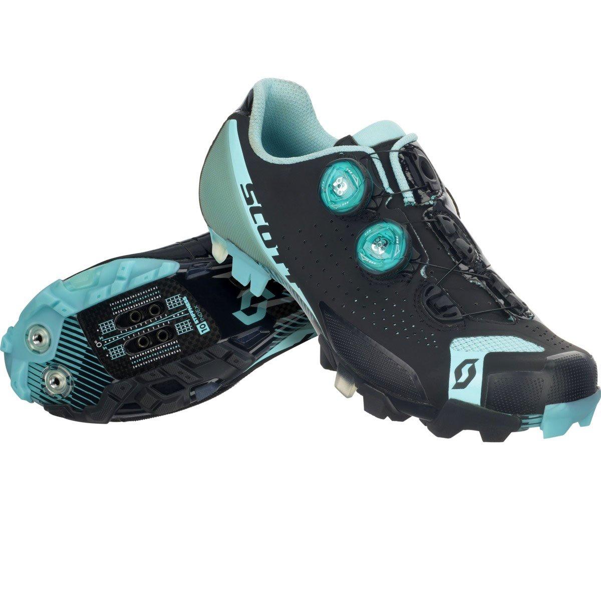 37.0 Womens Matte Black//Turquoise Blue Scott MTB RC Lady Shoe