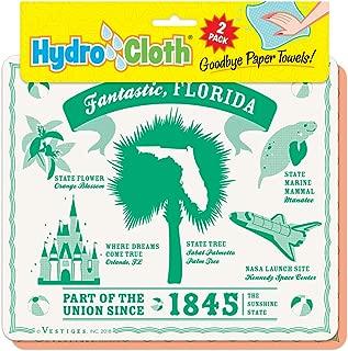 product image for Fantastic, Florida Hydro Cloth | Eco-Friendly Sponge Cloths | Reusable Sponge Cloths | Set of 2 Printed Swedish Dish Cloths | Replaces 30 Rolls of Paper Towels | Machine Wash