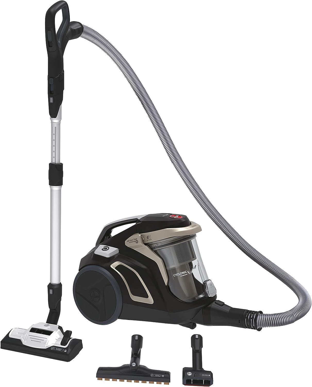 Hoover H-POWER HP720PET - Aspirador sin bolsa, Ciclónico, Cepillo pelo de mascota, parquet, suelos duros y alfombras, Filtro Hepa, 68dBA, 850W, Depósito One Touch 2L, Cable 9m, Plástico, Dorado: Amazon.es: Hogar