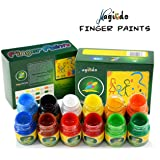 Magicdo FingerPaint, 6 Cols Kids Washable Paint Set, Nontoxic Kids Paint Tube For Arts, Crafts and Posters, Finger Paint kit, Perfect for Easter Gifts(30 ml/Tube)