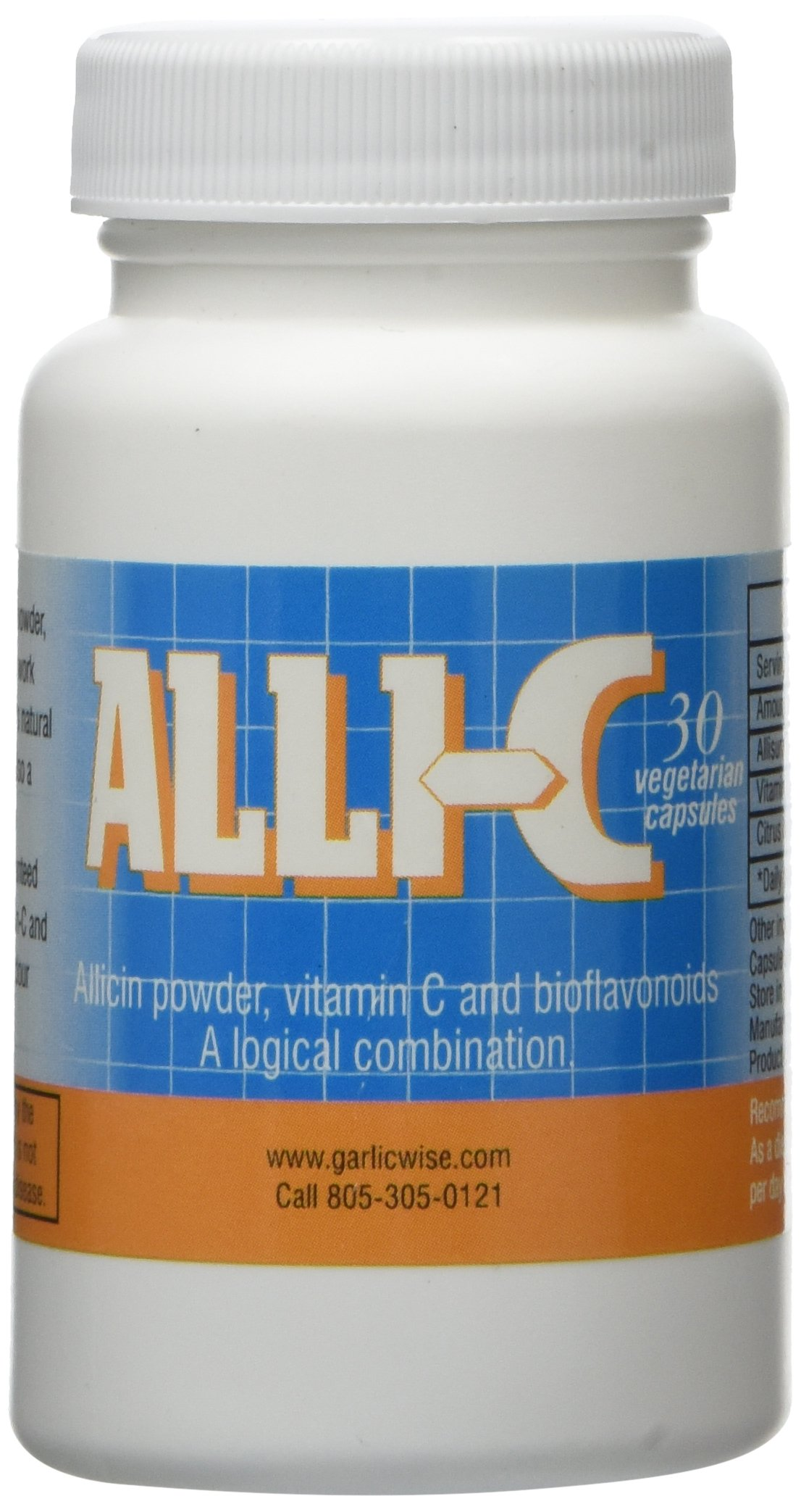 ALLI-C Allicin with Vitamin C and Bioflavonoids - 30 vegetarian capsules capture the power of garlic by ALLI-C (Image #1)