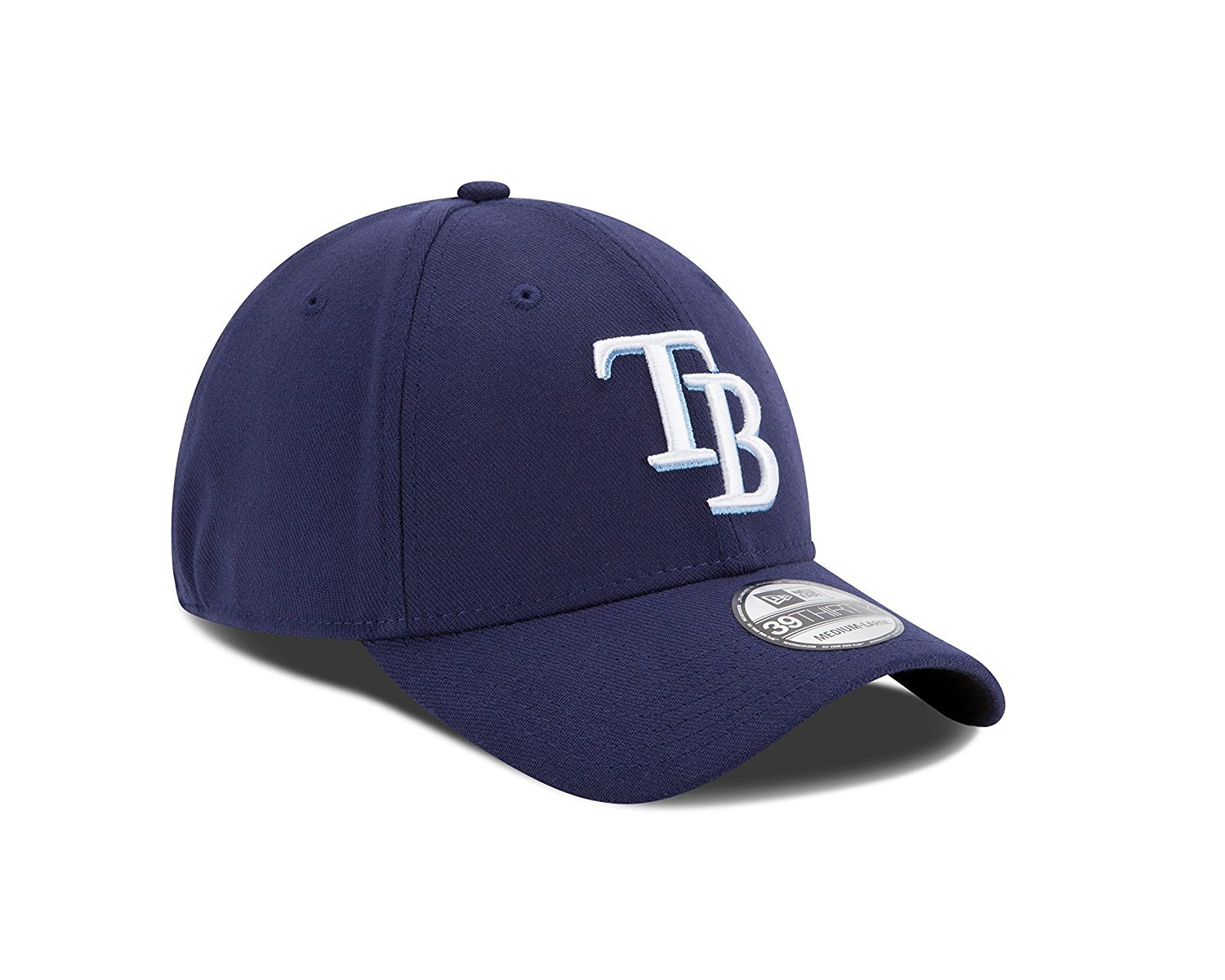 MLB Tampa Bay Rays Team Classic Game 39Thirty Stretch Fit Cap, Blue, Small/Medium