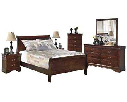 Amazon.com - Ashley Alisdair 6PC Bedroom Set Full Sleigh Bed Two ...