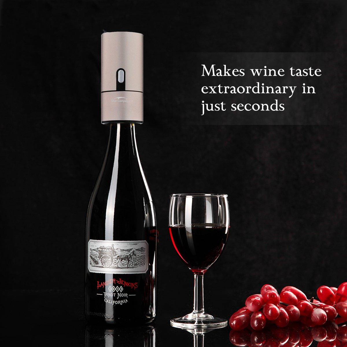 Dispensador de aireador de vino portátil, sistema de difusor de aire instantáneo automático de un botón para vino tinto y blanco: Amazon.es: Hogar