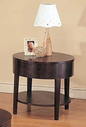 Coaster Home Furnishings CO- Gough Round End Table with Shelf, Cappuccino