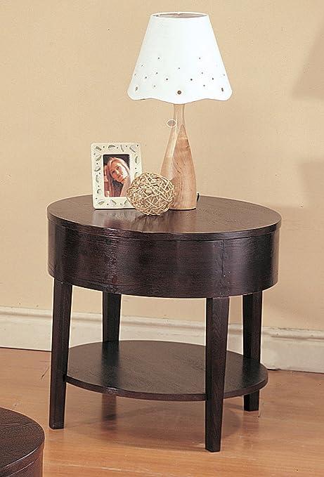 Amazon.com: Coaster Muebles Madera Mesa auxiliar redonda ...