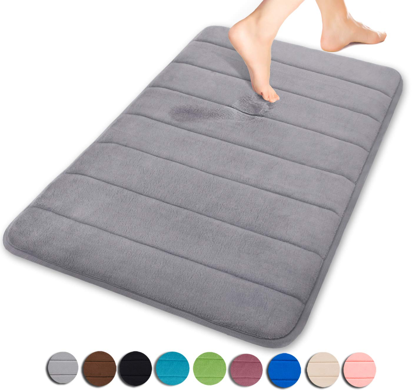 Charmant Yimobra Original Memory Foam Bath Mat Large Size 31.5 By 19.8 Inch,Maximum  Absorbent,Soft,Comfortable,Non Slip,Thick,Machine Wash,Easier To Dry For  Bathroom ...