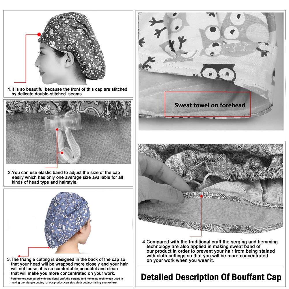 Amazon.com: MAKEZTSD Adjustable Surgical Scrub Cap Medical Doctor ...
