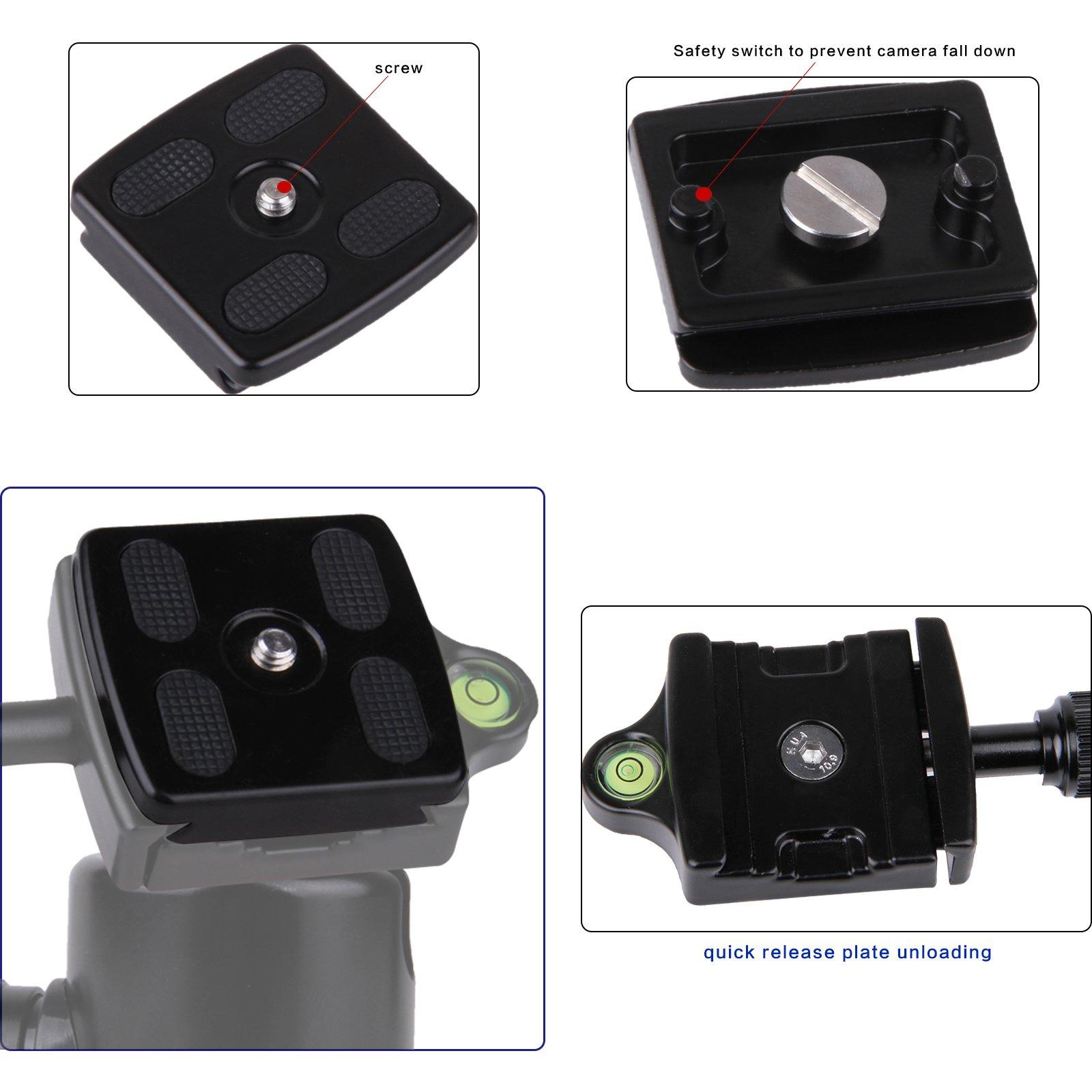 Zomei Professional Camera Camcorder Tripod Ball Head Aluminum Quick Release Applicable For Zomei Z668,Z668C,Z669,Z669C Z818,Z888,1pcs