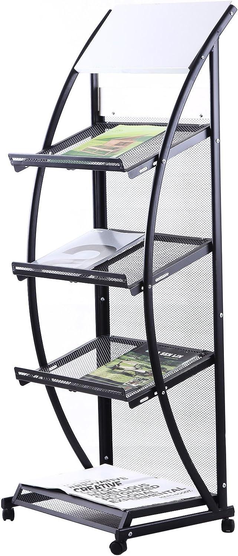 ZNL Prospektst/änder Prospekthalter mit 3 tasche Brochure Literature Magazine Display Stand Rack Katalogst/änder Infost/änder 136cm HJ-01