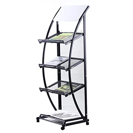 znl new magazine newspaper display stand a4 book rack office reading with rolls hj01 newspaper rack for office f8 for
