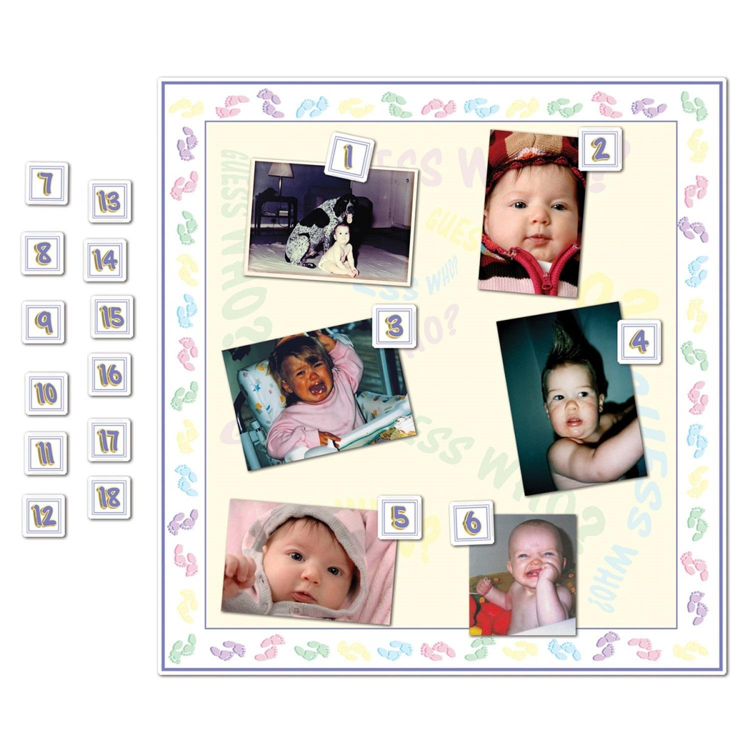 Club Pack of 24 Baby Shower Themed ''Guess Who?'' Party Game