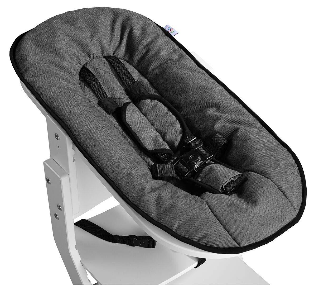 Babyaufsatz//Babyschale//Newborn Aufsatz f/ür den Treppenhochstuhl tiSsi/® grau