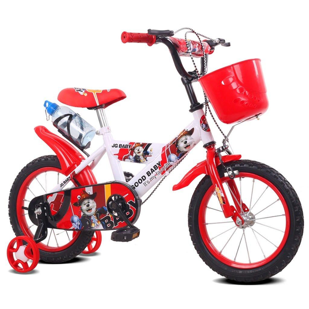子供の自転車2 – 4 /3 – 5 Years Old Boys and GirlsベビーCarriage 12 /14インチKids Bike高炭素鋼フレーム、レッド/ブルー  14 inch red B07D1KDBMC