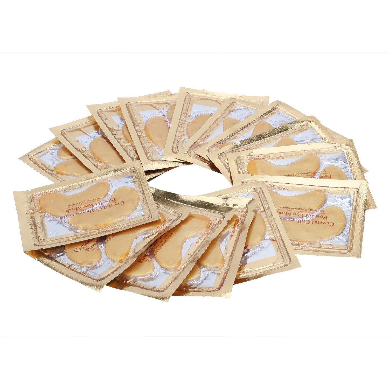 15x Packungen Originale Augenpads Augen Maske Gold mit Hyaluronsäure & Collagen Pinzhi