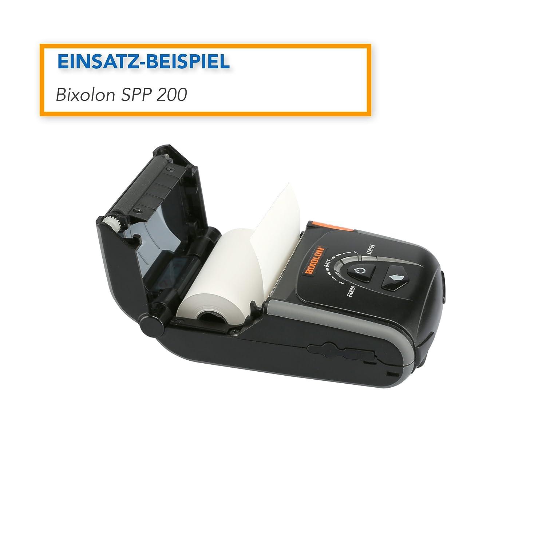 Breite: 57 mm etc. EC-Terminals 50 x EC Cash Thermorollen f/ür Bondrucker Durchmesser: 35 mm H/ülsendurchmesser: 12 mm L/änge: 25 m