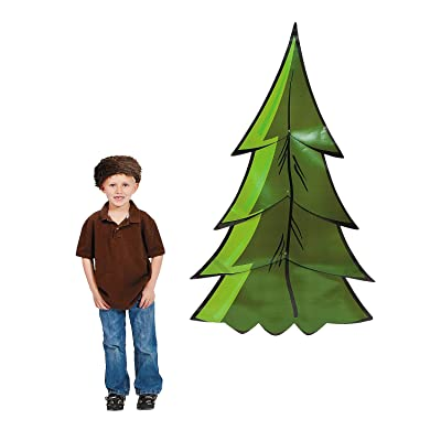 Pine Tree Jointed Cardboard Cutouts (2 piece set) Almost 5 feet tall: Toys & Games