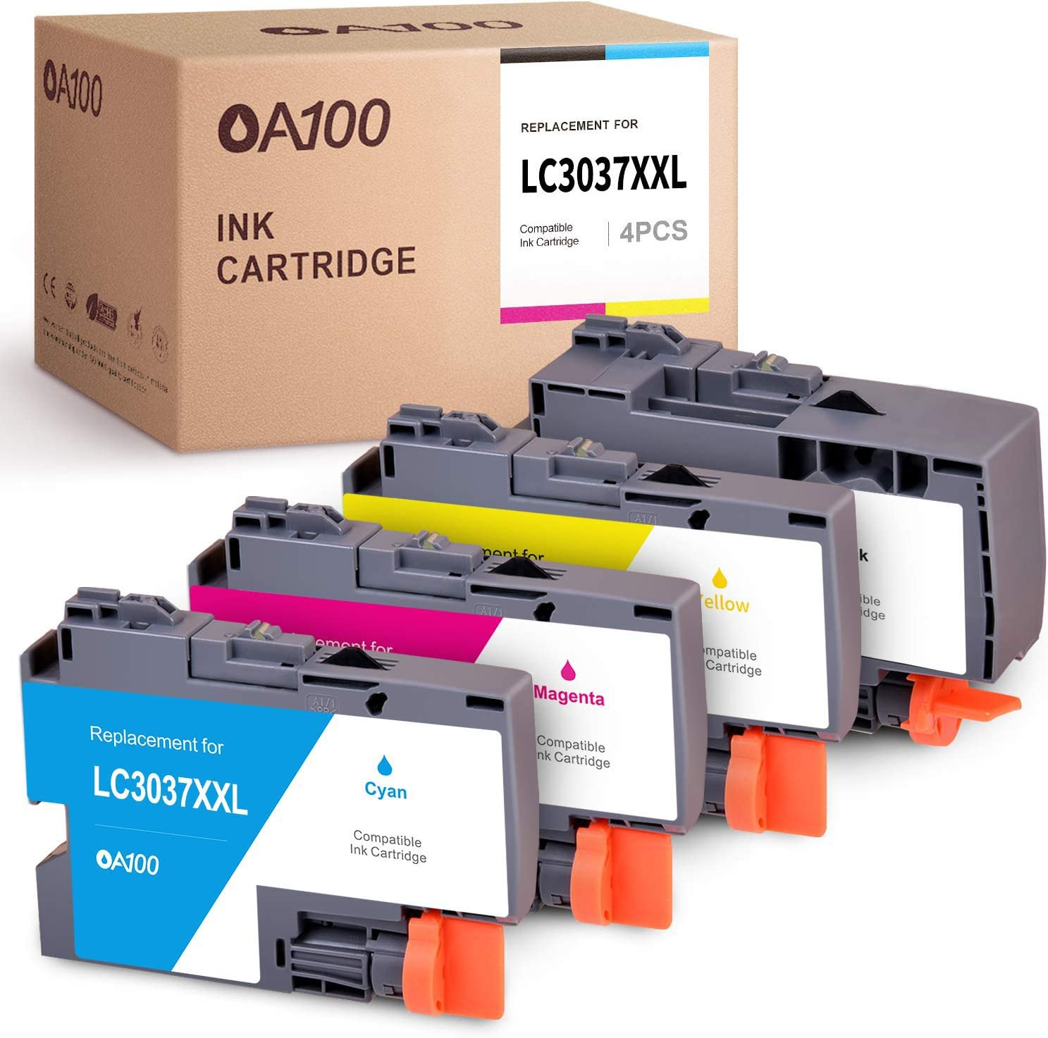 Print.After.Print Compatible Toner Cartridge Replacement for LC3037Y J6545DW XL J6545DW J6945DW Super High Yield Works with: MFC-J5845DW J5845DW XL Yellow J5945DW
