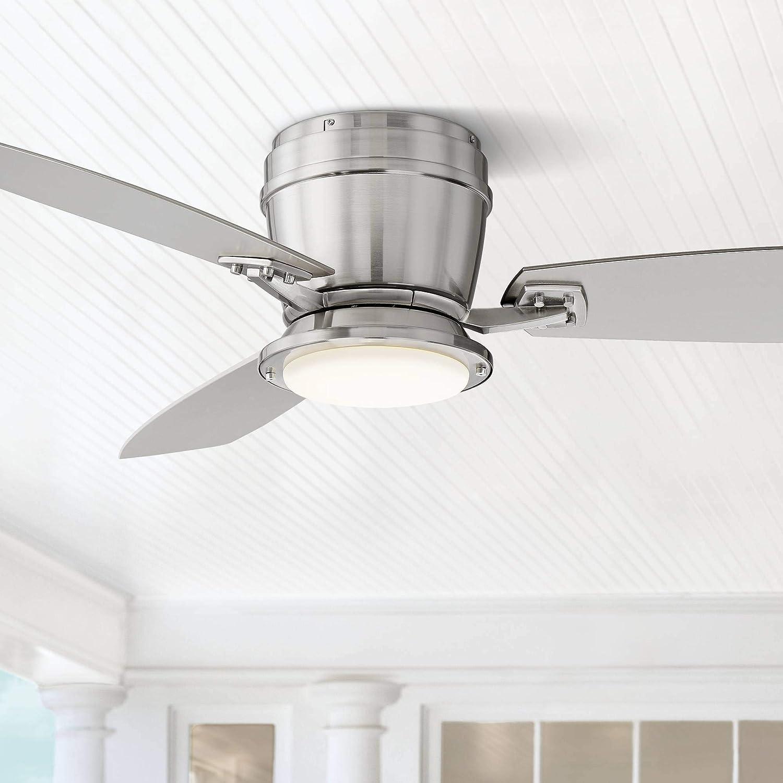 Ventilador de techo de perfil bajo para exteriores con luz LED ...