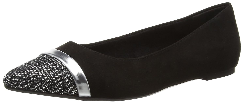 24234, Ballerines Femme, Noir (Black Leather), 36 EUTamaris