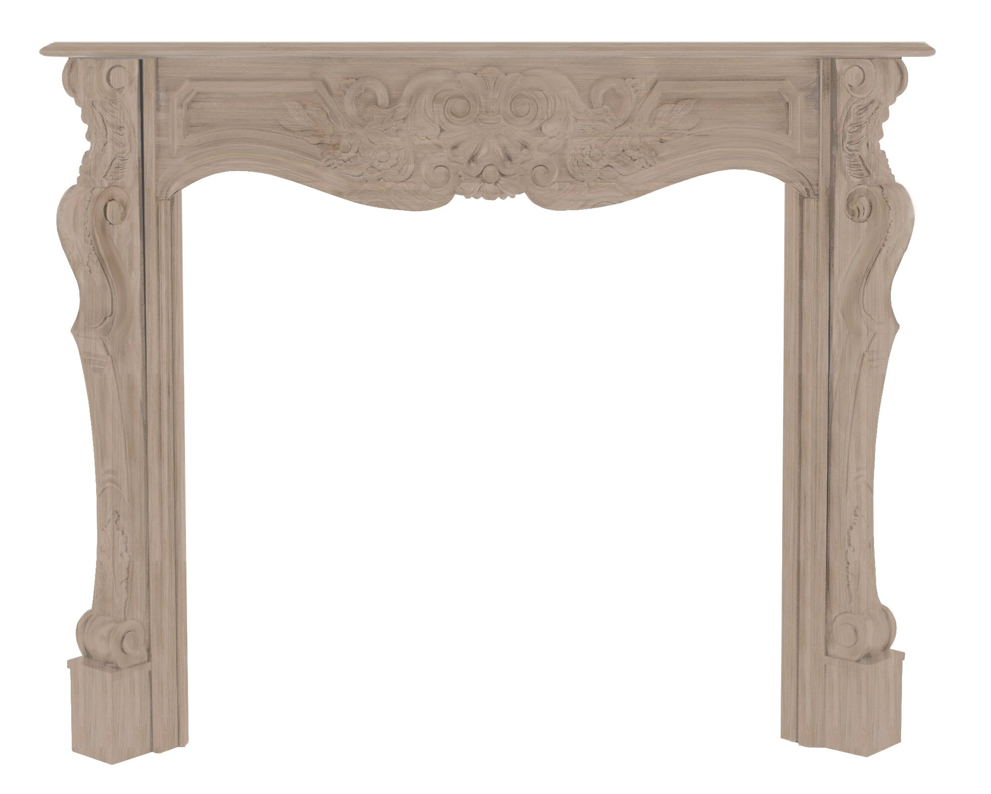 Pearl Mantels 134-48 Deauville Fireplace Mantel, 48-Inch, Unfinished by Pearl Mantels