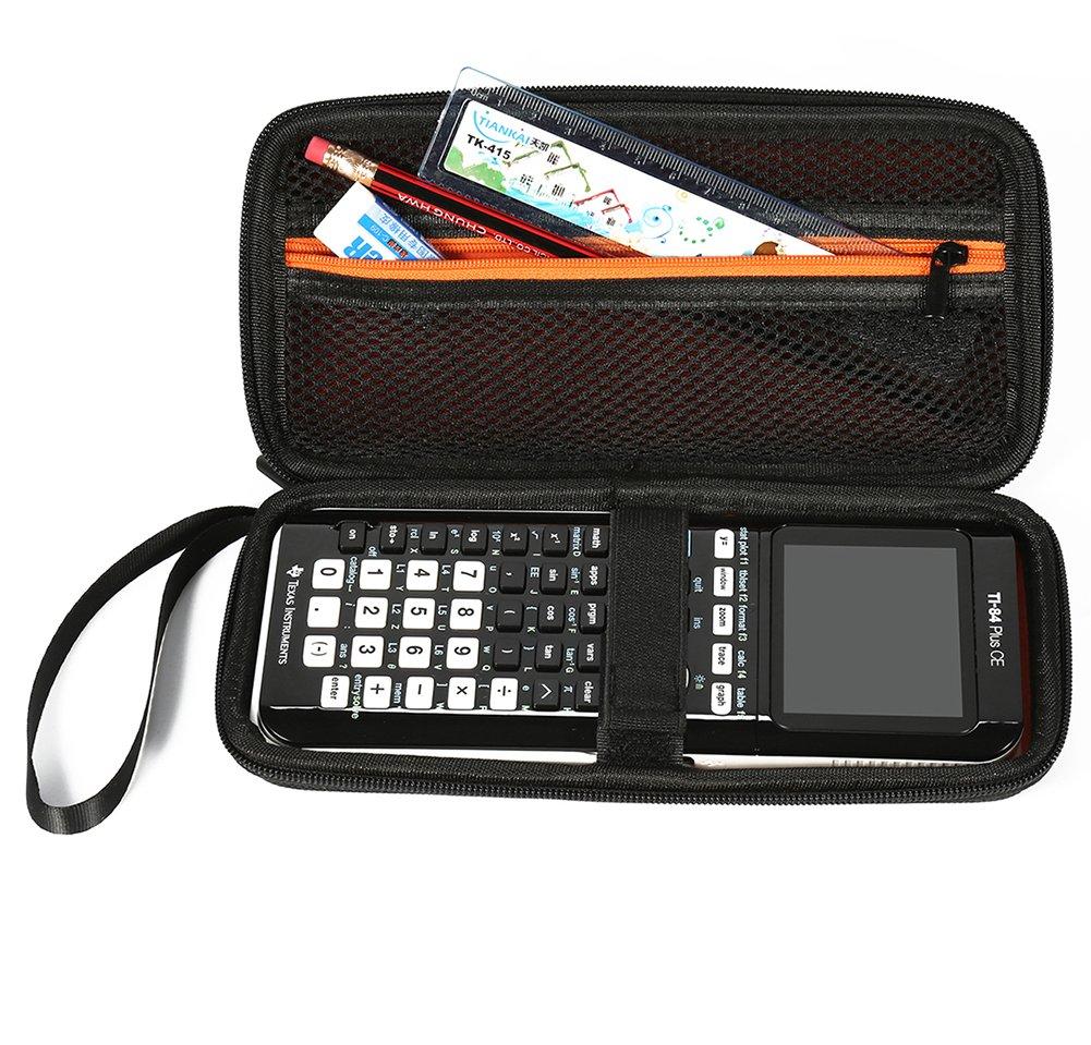 Kentop - Custodia da Viaggio per calcolatrice Grafica Eva, Custodia Antipolvere per Texas Instruments TI-83 Plus TI-84 Plus HP50G