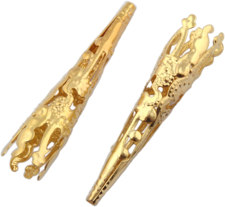 TWO Bolo Tips Gold Tone - 2pcs ViciBeads