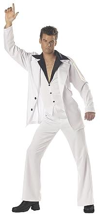 Marvelous California Costumes Menu0027s Saturday Night Fever Costume, White/Black, Small