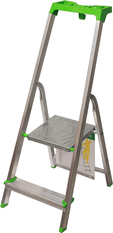 Escalera Tijera c/Bandeja Superior Multifuncional (2 Peldaños). BTF-TJL202: Amazon.es: Bricolaje y herramientas