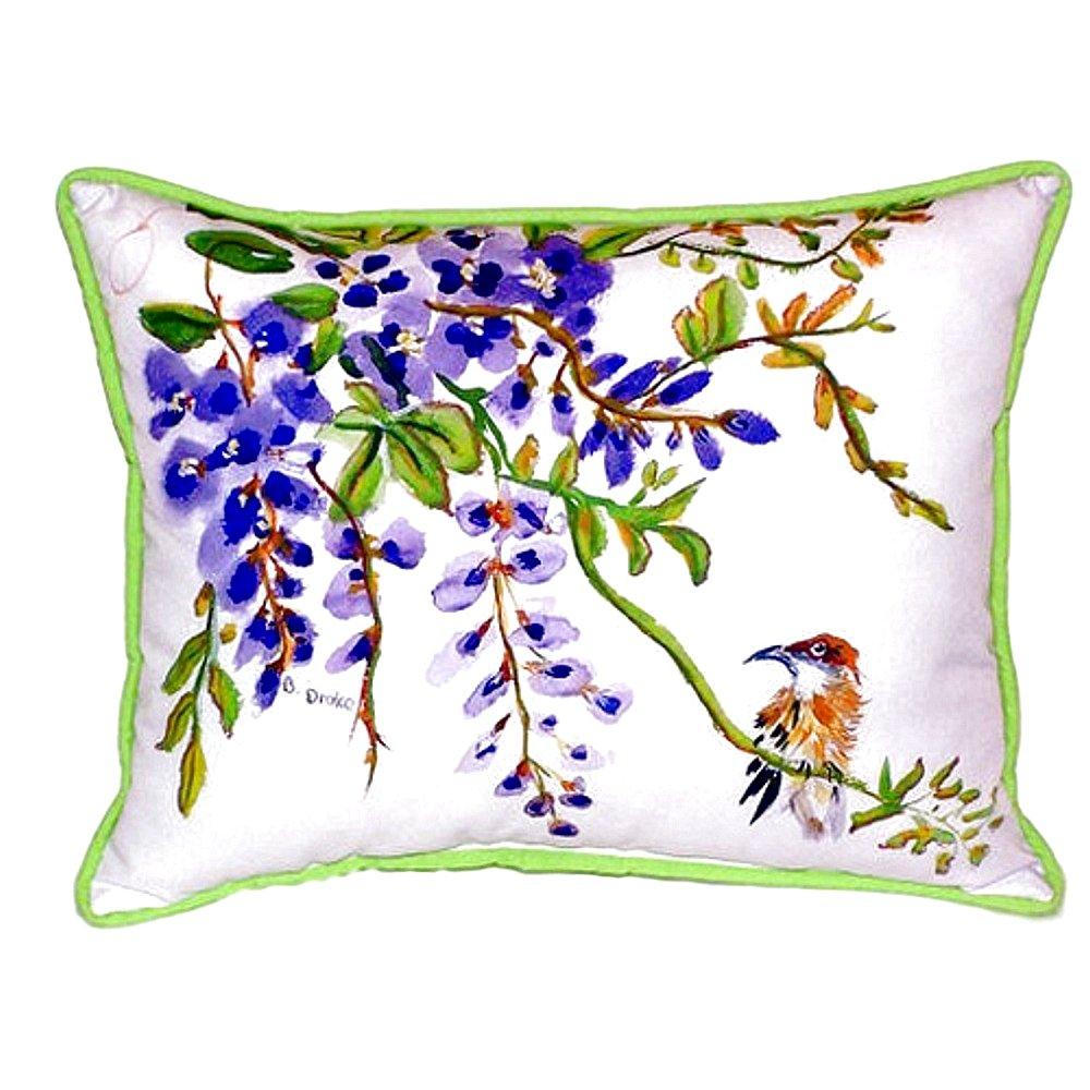 Betsy Drake SN959 Wisteria & Bird Pillow, 11' x14'