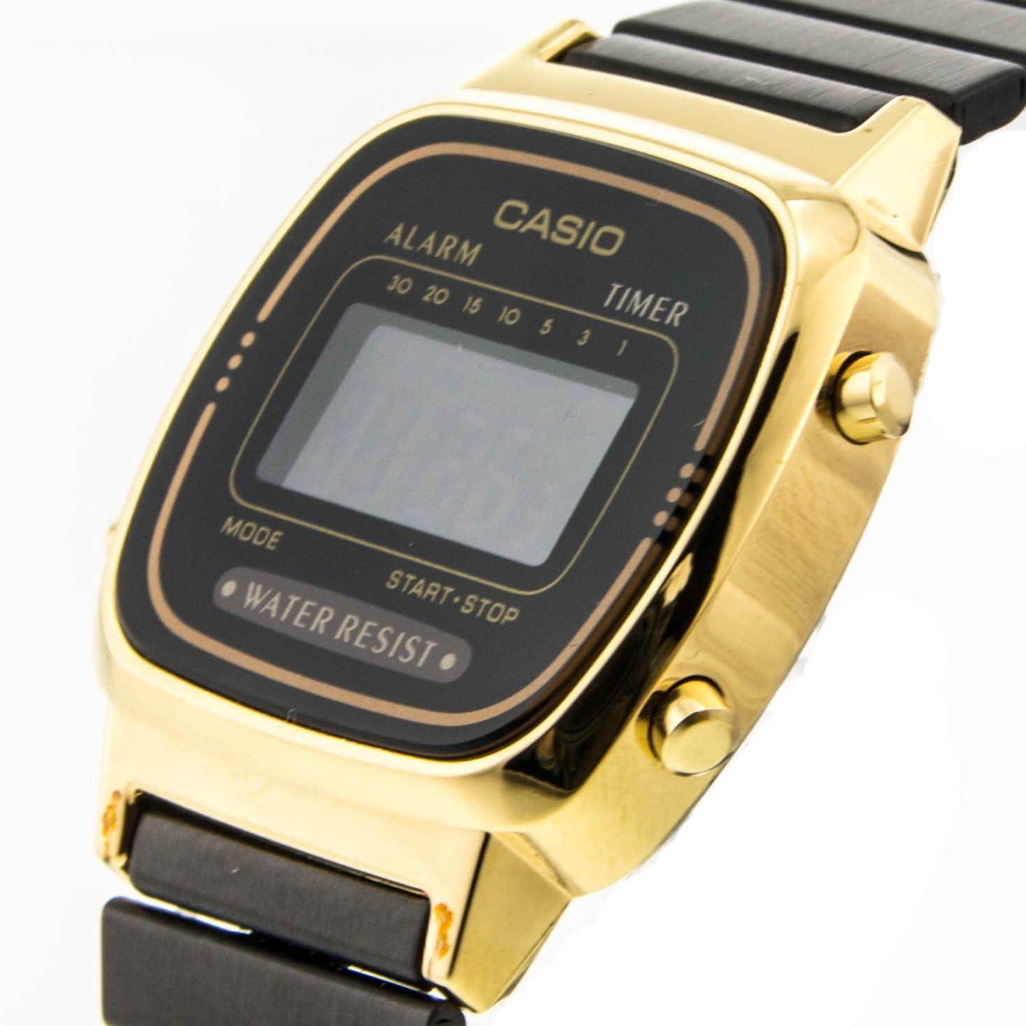 Montre Casio Collection acier noir LA670WEGB 1BEF