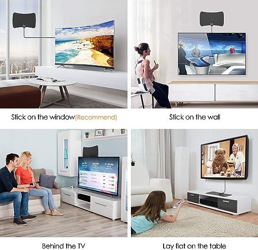 Amazon.com: Antena de TV digital de 130 millas para ...