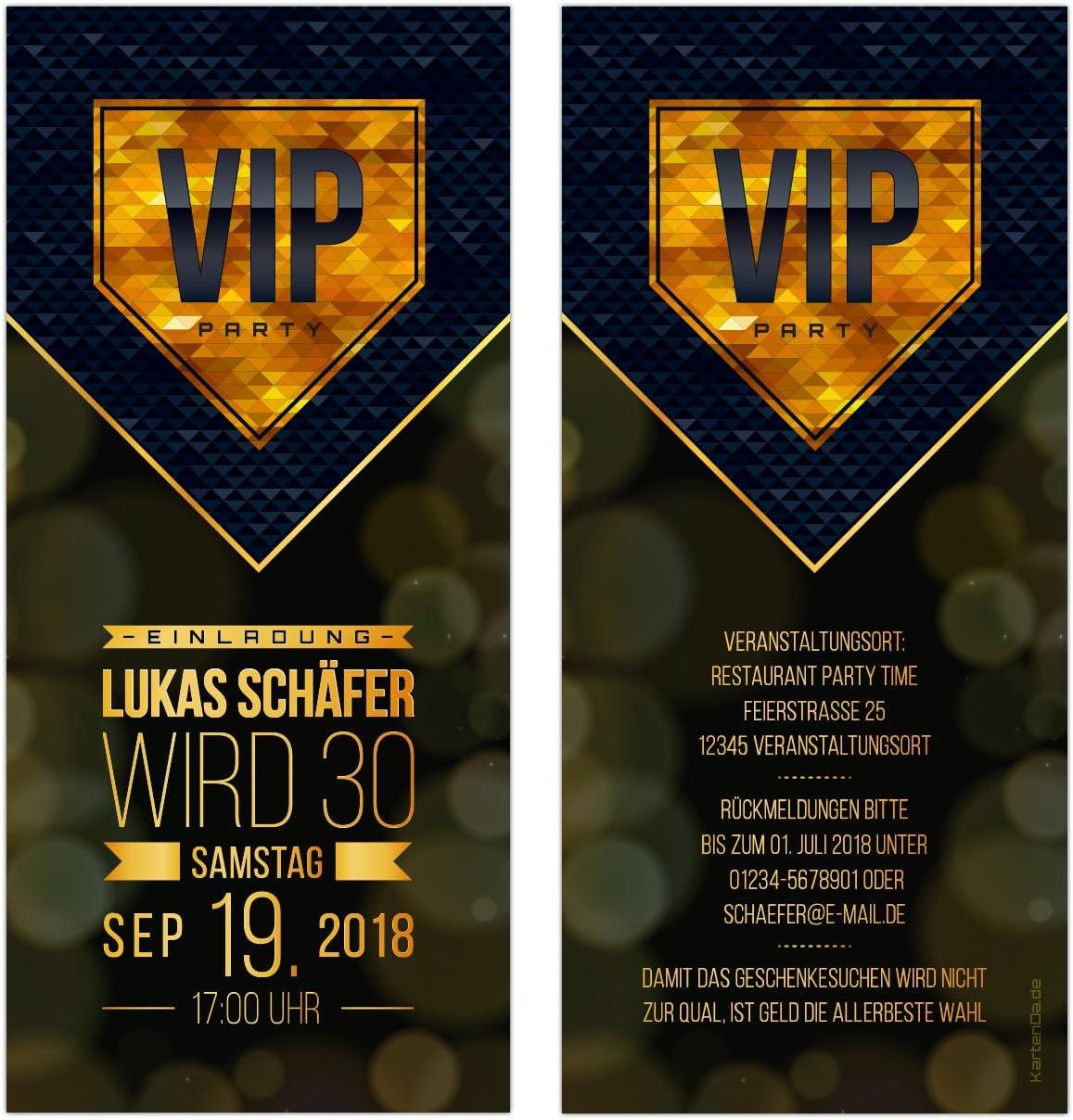 VIP Invitation Cards – Gold – Birthday Invitation – Pack of 30 ...