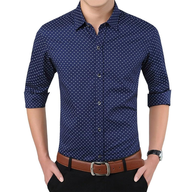 Romano Men's Full Sleeve Casual Blue Shirt: Amazon.in: Clothing ...