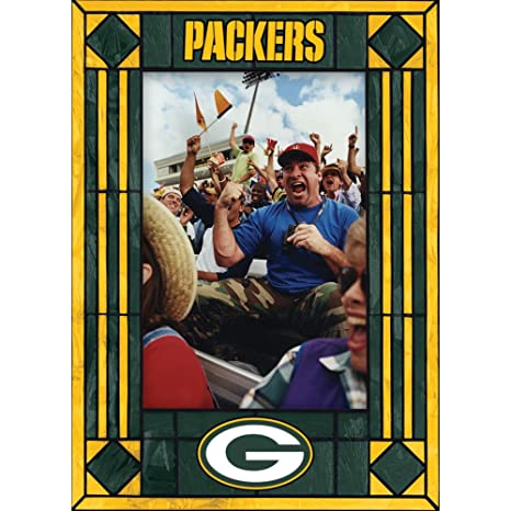 Amazon.com : Green Bay Packers Art Glass Frame : Sports Fan Picture ...
