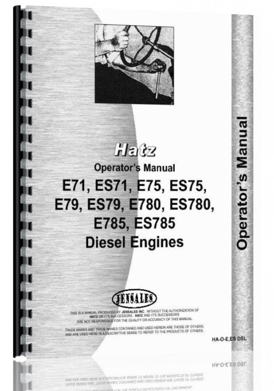 Hatz E71,ES71, E75, ES75, E79, ES79, E780, ES780, E785, ES785 Engine  Operators Manual: Amazon.co.uk: Garden & Outdoors