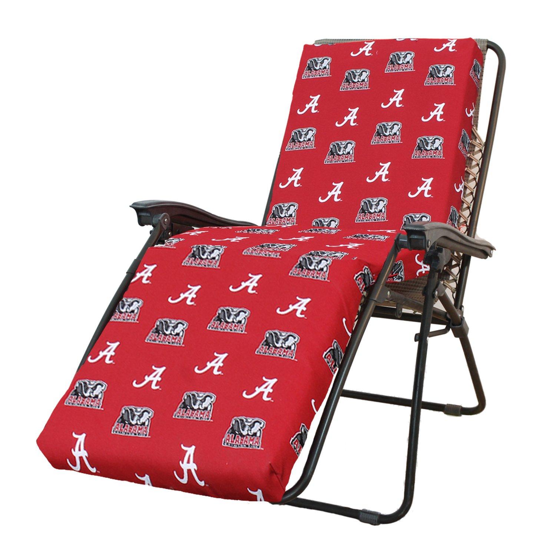 """Amazon NCAA Alabama Tide Zero Gravity Chair Cushion 72"""" x 20"""