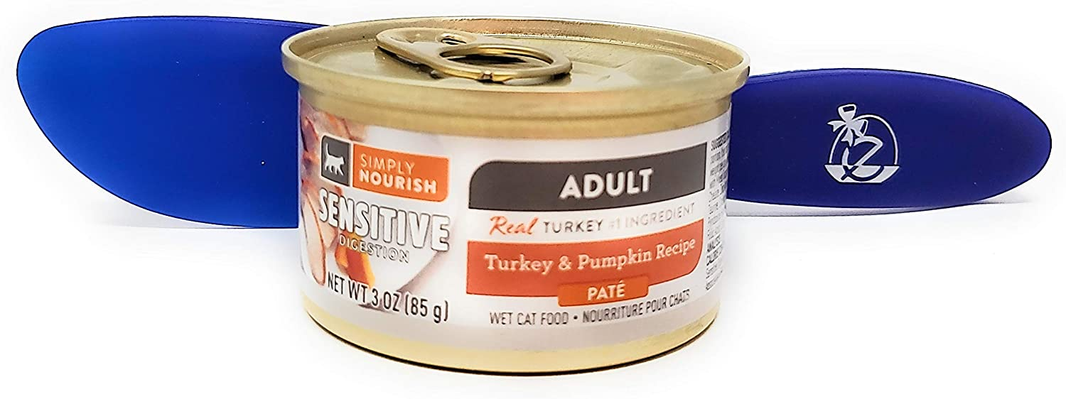 SIMPLY NOURISH Wet Cat Food Adult Turkey and Pumpkin Recipe, Pate 3oz (Pack of 12) and Especiales Cosas Spatula