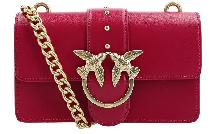 3e80d87acdb72 PINKO. BAG Love Simply 5 Rossa con Dettagli Oro con Catena Oro 1P216U Y4YM  R52  Amazon.it  Abbigliamento