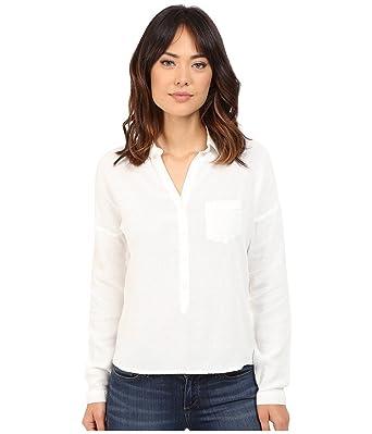 2642c7456d091 Mavi Jeans Women's Pocket Blouse Antique White Blouse at Amazon Women's  Clothing store: