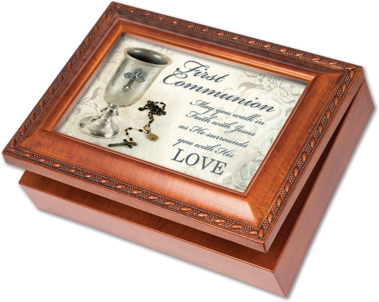 【あすつく】 First B00MHWUKOU Faithfulness Thy Communion Cottage Garden木目仕上げ音楽ジュエリーボックス – Plays Song Great is Thy Faithfulness B00MHWUKOU, 大きいサイズ服 なでしこ:8a38b258 --- arcego.dominiotemporario.com